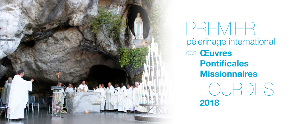 Pèlerinage lourdes 2108 vue de la grotte