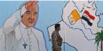 Dessin du Pape sur un mur irakien
